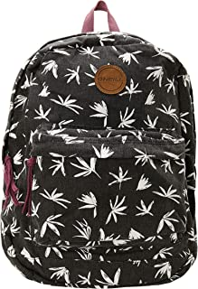 Women's Basic Lightweight Canvas Backpack (Black/Blazin, ONE)