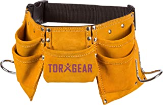 Childs Leather Tool Belt - Suede Leather Working Tool Pouch for Youth Dress Up and Costume