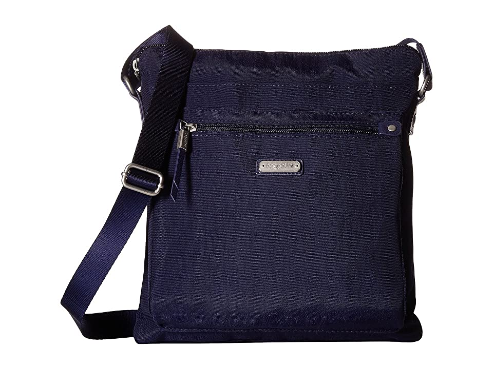 Baggallini New Classic Go Bagg with RFID Phone Wristlet (Navy) Bags