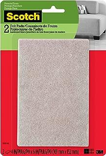 Scotch Felt Pads, Rectangle, Beige, 4 in. x 6 in., 2 Pads/Pack (SP800-NA)