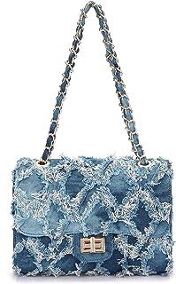 Dasein Women's Quilted Crossbody Bags Twist Lock Shoulder Bags Satchel Handbags w/Chain Strap
