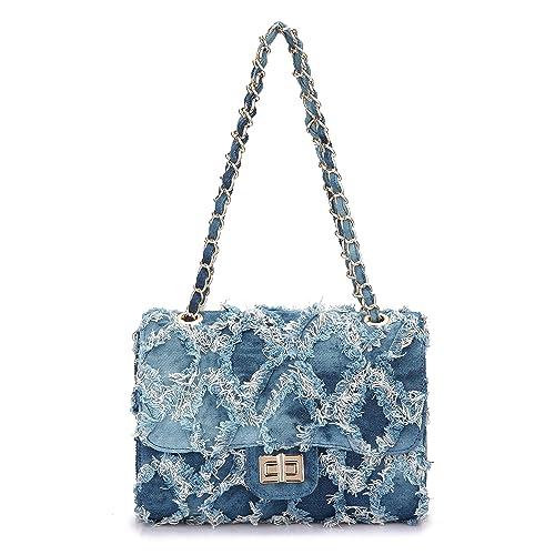 a37a9bd657b0 Dasein Women s Designer Quilted Crossbody Bags Twist Lock Shoulder Bags  Satchel Handbags w Chain Strap