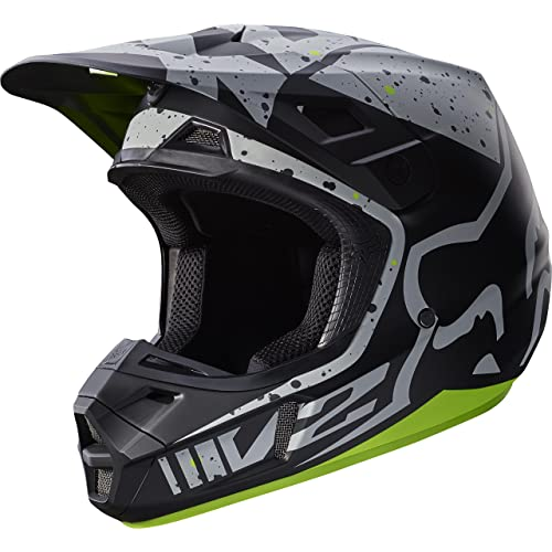 9d478848 Fox Racing Nirv Adult V2 Motocross Motorcycle Helmets - Grey/Yellow / Small