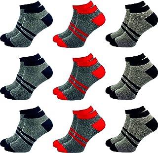 GAWILO Lot de 9 paires de chaussettes de sport - Pour homme et femme - Haute teneur en coton - Sans coutures
