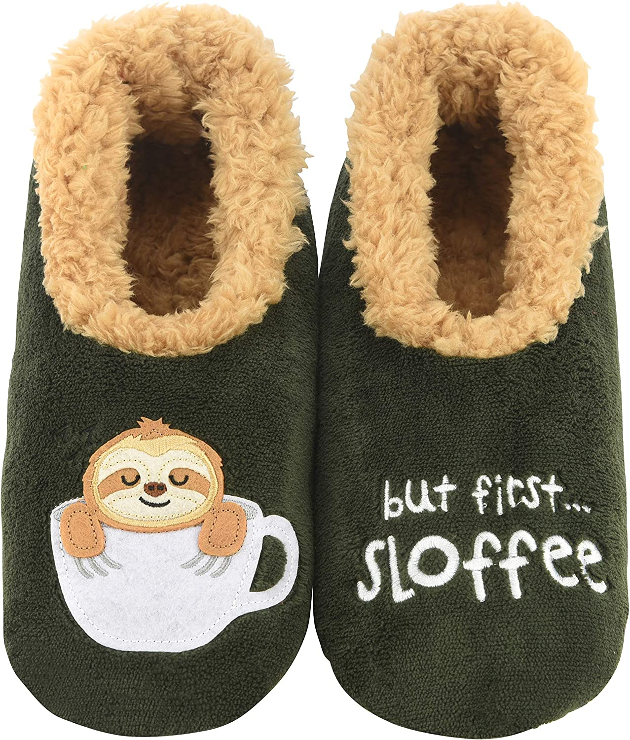 Snoozies Slippers for Women - Pairables Womens Slippers - But First Sloffee