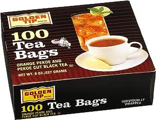 Golden Tip Tea Bags, Orange Pekoe and Black Tea, 100-Count Envelopes (Pack of 10)