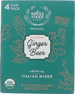 Whole Foods Market, Ginger Beer Organic, 8.4 Fl Oz, 4 Pack