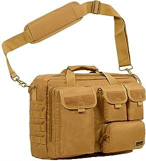 """(サイバトロン)Seibertron 高品質防水900D多機能ショルダーバッグ MOLLE 軍事戦術バッグ トートメッセンジャーバッグ 14.1"""" pc laptop Computer Bag カーキ Khaki"""