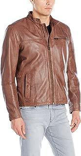 Men's Washed Lamb Leather Moto Jacket