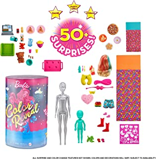 Barbie Color Reveal Slumber Party Fun Dolls and Accessories