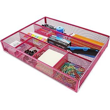 Hot Pink Mesh Wire Drawer Organizer (15 x 12 Inches)
