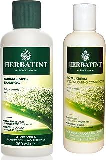 Herbatint Normalizing Shampoo and Royal Cream Conditioner Bundle With Aloe Vera, 8.79 fl oz each