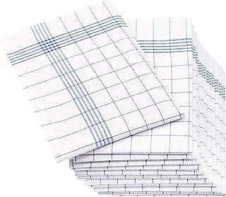 ZOLLNER 12er Set Geschirrtücher Halbleinen, 50x70 cm, blau weitere verfügbar