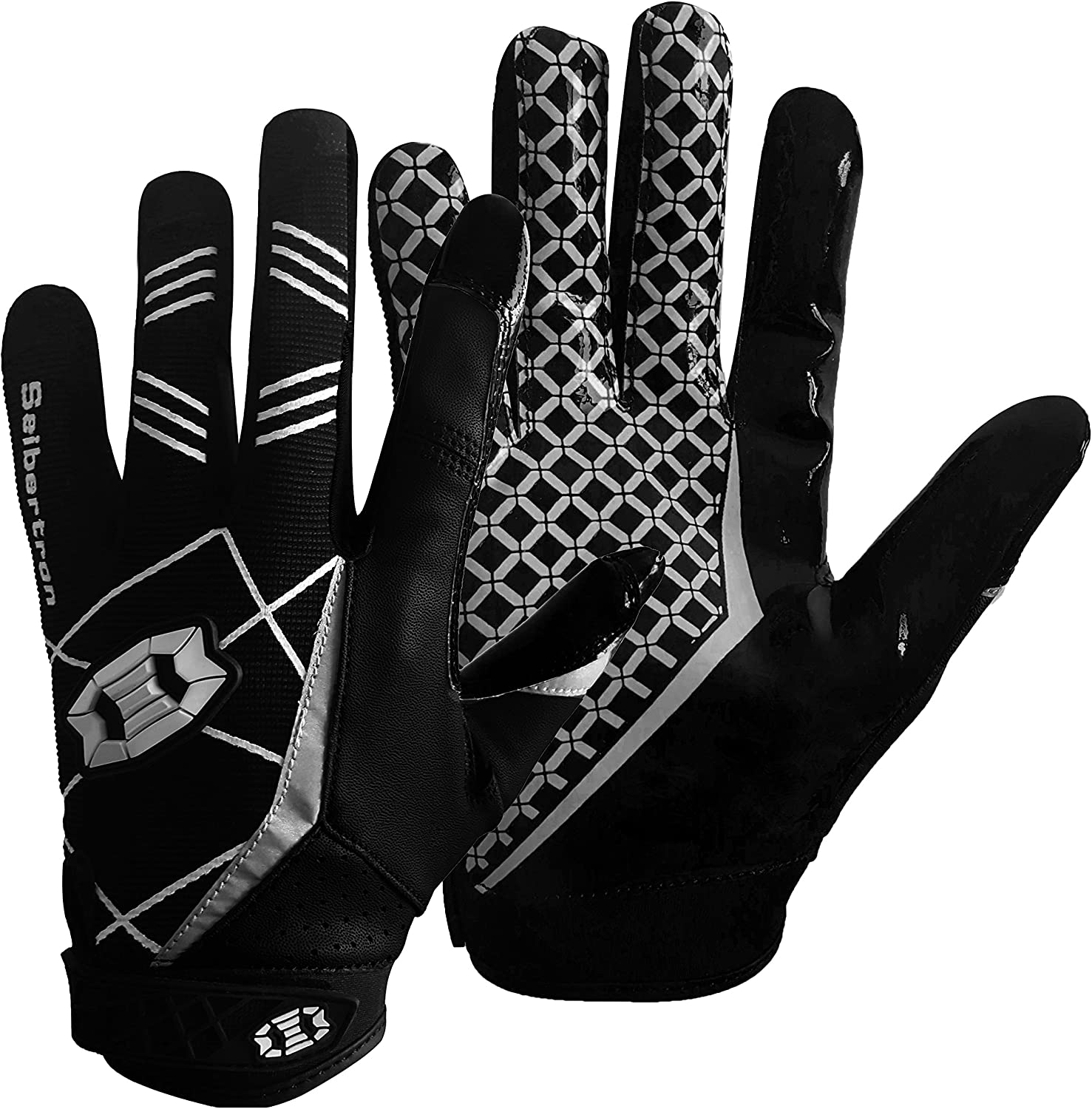 Seibertron Pro 3.0 Elite Ultra-Stick Sports Receiver Glove Football Gloves Youth and Adult : Sports & Outdoors