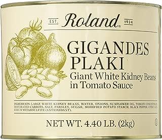 Roland Foods Gigandes Plaki Giant White Beans In Tomato Sauce, 4.40 Pound