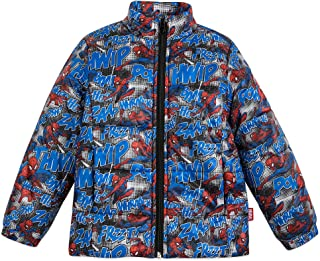Marvel Spider-Man Lightweight Puffy Jacket for Kids - Size 7/8 Multi