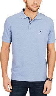Nautica Mens Classic Short Sleeve Solid Polo Shirt Solid Short Sleeve Polo Shirt