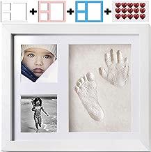 Rosado Kit de Marco de Fotos para Huellas y Huellas de beb/és reci/én Nacidos para Regalo de Almohadilla de Tinta de Tacto Limpio para beb/és Hztyyier Conjunto de Marco de Fotos para beb/és