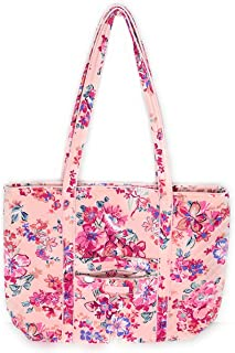 Vera Bradley Iconic Vera Tote Pretty Posies Pink Quilted Cotton