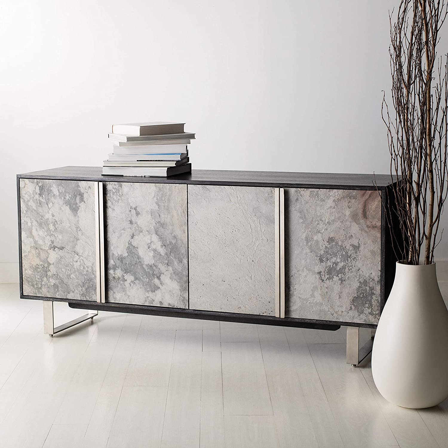 Safavieh Outlet sale feature Couture Home Drake Modern Dedication 4-door Sideboard Black Buffet