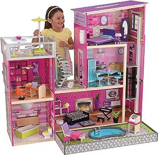 "KidKraft Girl's Uptown Dollhouse with Furniture,Multi,49.25"" x 25.25"" x 46.25"""