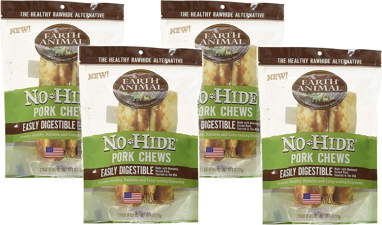 Earth Animal 6 Pack of NoHide Pork Chews, 7  Each