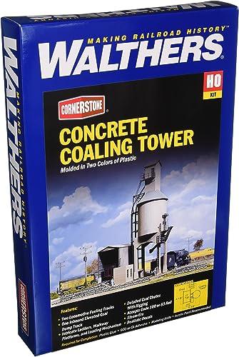 costo real Walthers Cornerstone 933-3042 - Torre Torre Torre de aprovisionamiento de carbón, la óptica de hormigón, construcción  sorteos de estadio