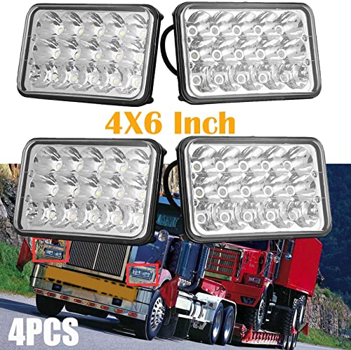 """wholesale For Western Star 4900 Semi Truck new arrival Peterbilte 357 new arrival 378 LED Sealed Beam Headlights 4X6"""" Inch High Low Beam Rectangular Headlamps H4651 H4652 H4656 H4666 H6545 Replacement 2 Year Warranty online sale"""