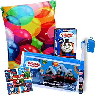Character Children's Toothbrushes Bundle with Reward Stickers (Thomas The Train Travel Set)