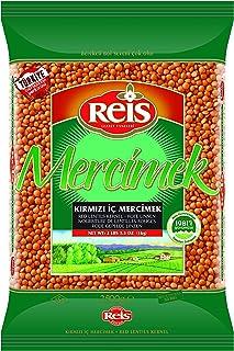 Reis Kırmızı Mercimek - Futbol Tane 2,5 Kg