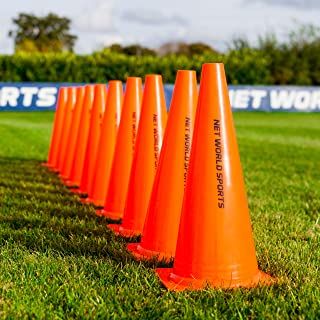 Forza Training Marker Cones [10 Pack] - Soccer Training Traffic Cone - 3 Sizes