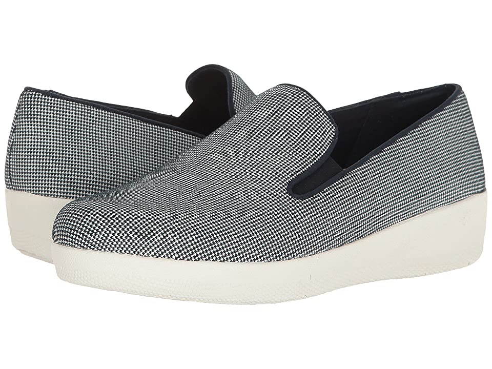 FitFlop Houndstooth Print Superskate (Midnight Navy) Women