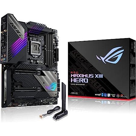 ROG Maximus XIII Hero (WiFi 6E) Z590 LGA 1200(Intel11th/10th Gen) ATX Gaming Motherboard (PCIe 4.0, 14+2 Power Stages, DDR4 5333+, Dual 2.5Gb LAN,Thunderbolt 4 onboard, 4X M.2/NVMe SSD, Aura RGB)