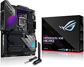 ROG Maximus XIII Hero (WiFi 6E) Z590 LGA 1200(Intel11th/10th Gen) ATX Gaming Motherboard (PCIe 4.0, 14+2 Power Stages, DDR...