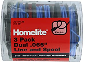 """Homelite Genuine OEM AC41RL3 Autofeed Dual .065"""" Replacement Line and Spool Pack for Homelite Electric String Trimmers (3 Pack)"""