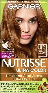 Garnier Nutrisse Ultra Color Nourishing Hair Color Creme, HL2 Warm Caramel (Packaging May Vary)