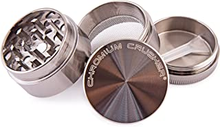 Chromium Crusher 1.6 Inch 4 Piece Tobacco Spice Herb Grinder – Pick Your Color… (Gun Metal)