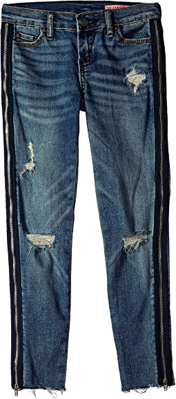 Denim Skinny with Zipper Detail in Jersey Girls (Big Kids)