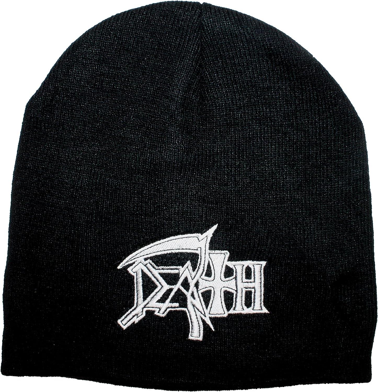 Razmataz Death Band Logo Cheap sale Black Knit New Free Shipping Metal Extreme Hat Cap Beanie