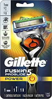 Gillette Fusion5 ProGlide Power Men's Razor Handle + 1 Refill + 1 Battery