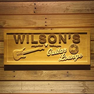 ADVPRO wpa0057 Name Personalized Guitar Lounge Music Band Room Man Cave Den Beer Bar 3D Engraved Wooden Sign - Standard 23...