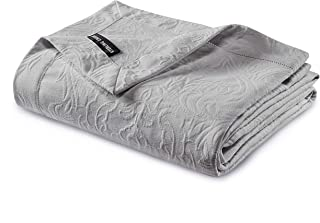 Gwen 3-Piece Floral Woven Jacquard Matelassé Bedding Cover - Solid Quilt Blanket Coverlet Set (King, Gray)