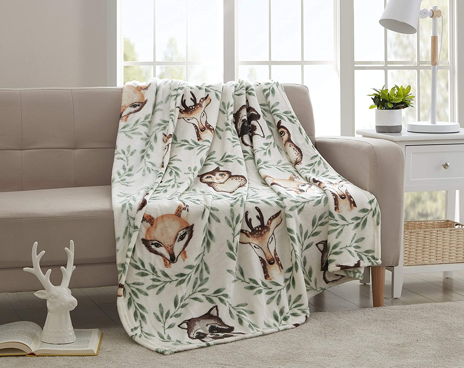 Morgan Home Fashions Velvet Plush Throw Blanket- Soft, Warm and Cozy, Lightweight for All Year Round Use 50 x 70 Inches Soft Velvet Plush in 5 Styles