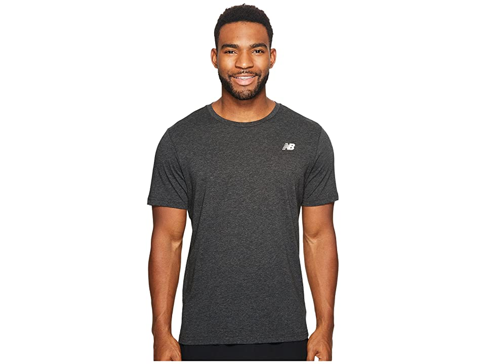 New Balance Heather Tech Short Sleeve (Black Heather) Men