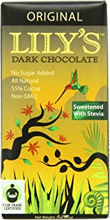 Lily's Dark Chocolate Bar with Stevia, Original, 3 Ounce (Pack of 12)