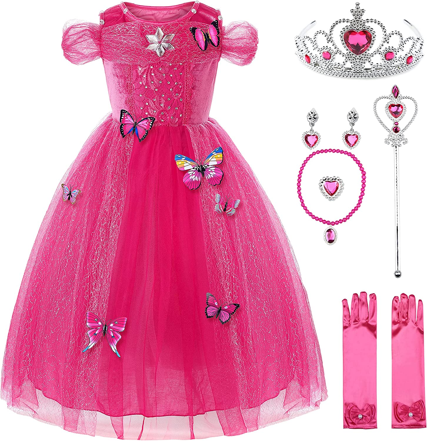 Uhdear Girls Butterlfy Princess Costume with National uniform free shipping Dress Up Deluxe List price Ace
