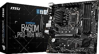 MSI B460M PRO-VDH WiFi ProSeries Motherboard (mATX, 10th Gen Intel Core, LGA 1200 Socket, DDR4, Dual M.2 Slots, USB 3.2 Ge...
