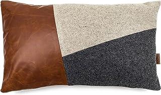 MIQIO® cojín de Fieltro Decorativo con Piel auténtica (cojín de sofá 'Bergen' con cojín Interior) 30x50 cm