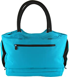 CoolBag Gen 2 Locking Anti-Theft Travel Tote With Insulated Cooler Compartment (Tahiti Turquoise)
