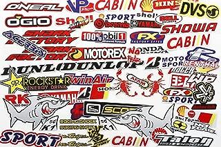 Mega Pack Car Decal Racing Decal Sticker for Cars Bumper Window Sponsor Motocross Racing Tuning Motorbike Bundle Dirt Bike Full Color (66pcs)